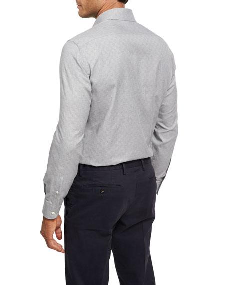 Tonal Box Jacquard Shirt, Gray