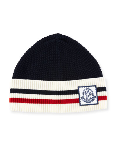 Wool Striped Logo Hat