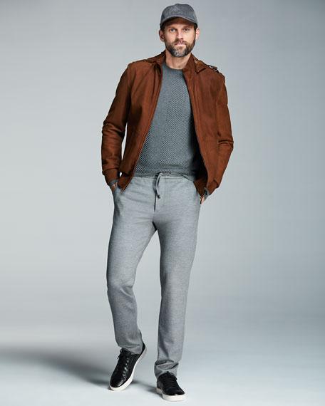 Herringbone Crewneck Sweater