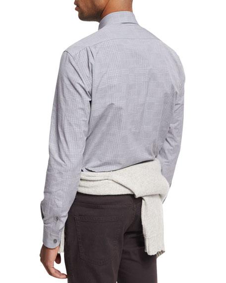 Fine-Plaid Cotton Shirt