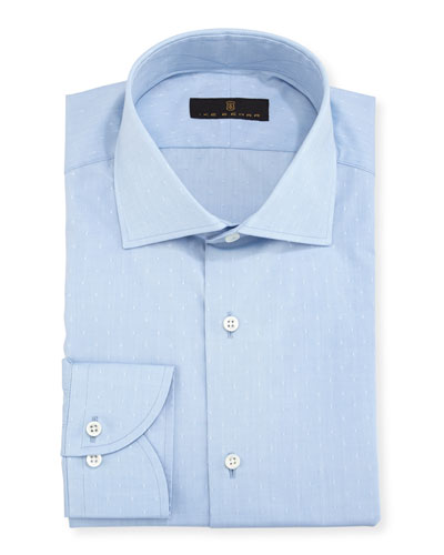 Gold Label Dobby Cotton Dress Shirt, Blue
