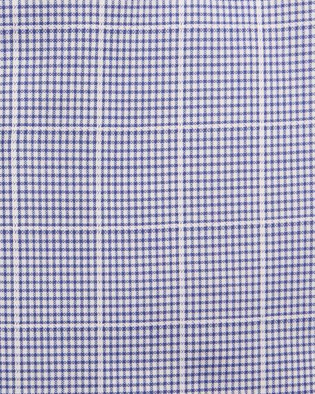 Mini-Check Windowpane Dress Shirt