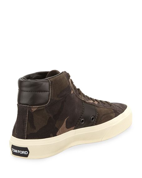 Men's Cambridge Camouflage Suede High-Top Sneakers