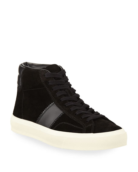 TOM FORD Cambridge Suede High-Top Sneaker