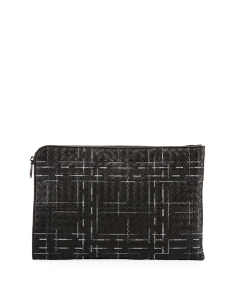 Bottega Veneta Metropolis Napa Leather Pouch