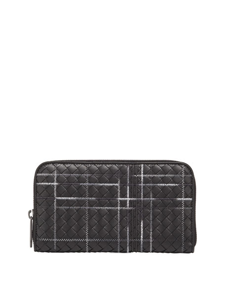 Bottega Veneta Metropolis Intrecciato Leather Continental Zip