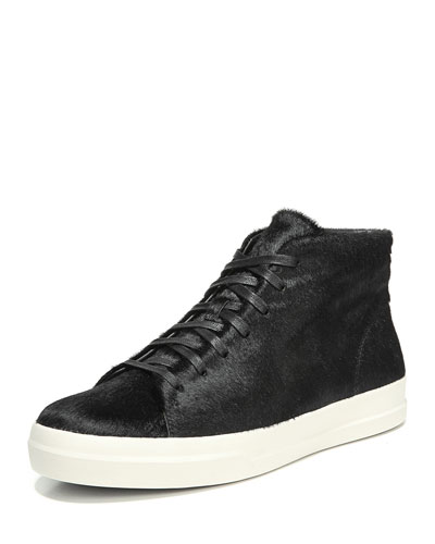 Cullen Calf Hair High-Top Sneaker