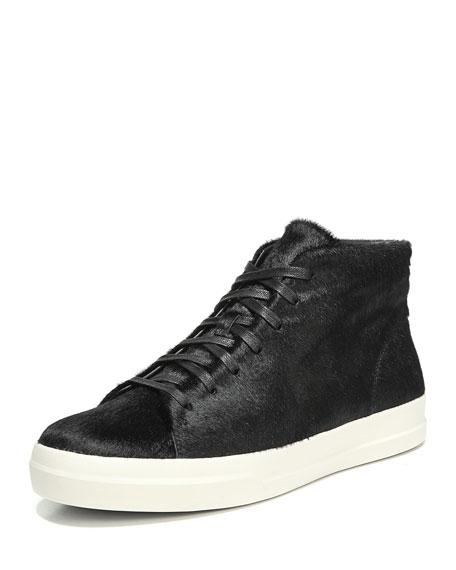 Cullen Calf Hair High-Top Sneaker