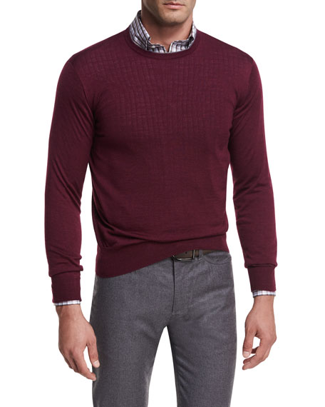 Peter Millar Collection Merino-Silk Crewneck Sweater