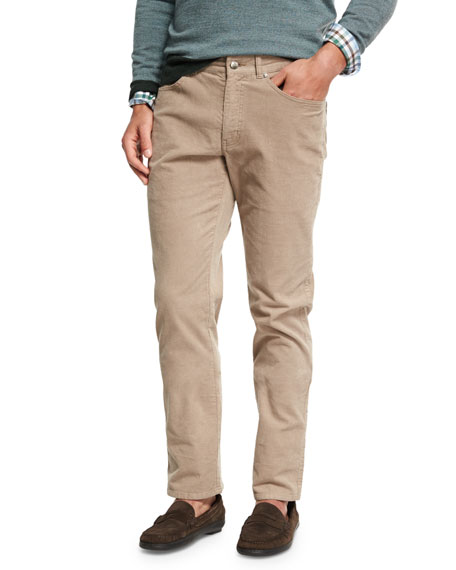 Peter Millar Five-Pocket Stretch Corduroy Pants and Matching