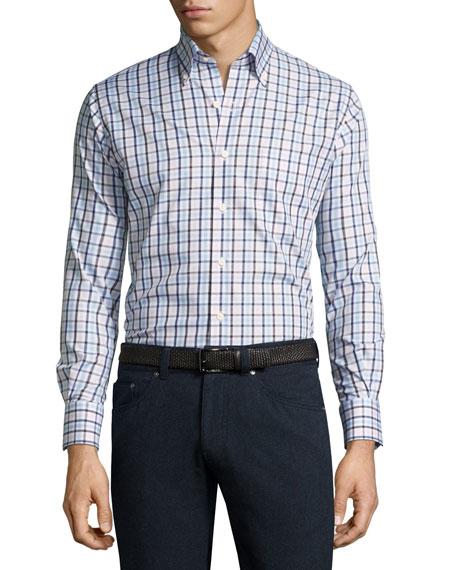 Crown Brady Check Cotton Shirt, Pink/Blue/White