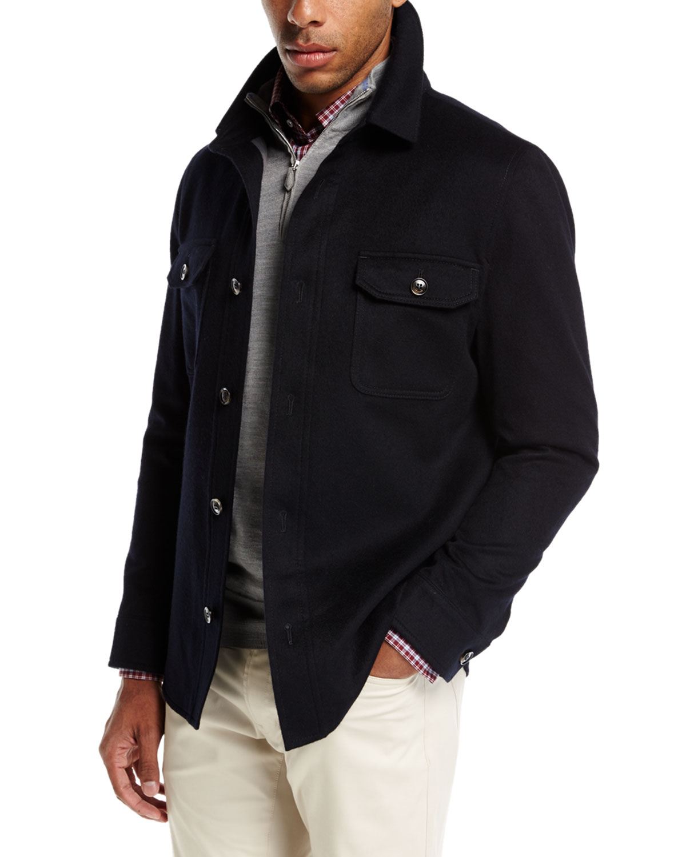 7a559765f Peter Millar Featherweight Journeyman Shirt Jacket | Neiman Marcus