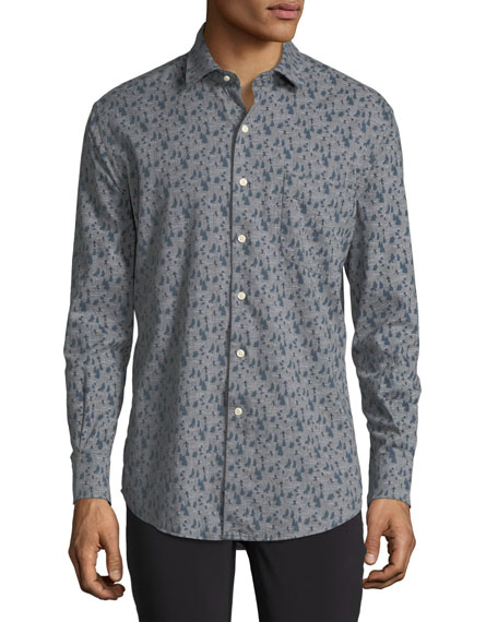 Peter Millar Snow Hares Flannel Sport Shirt