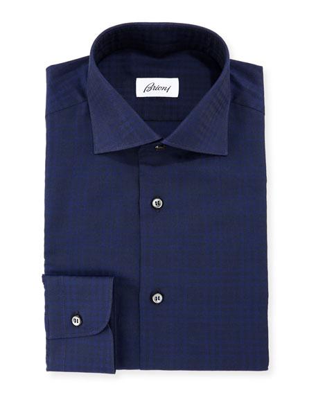 Brioni Tonal Check Dress Shirt