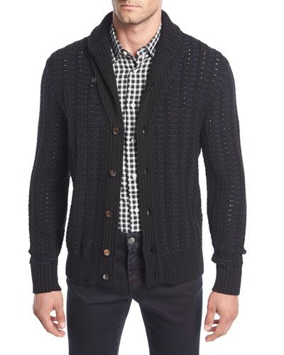 Wool Jacquard Cardigan