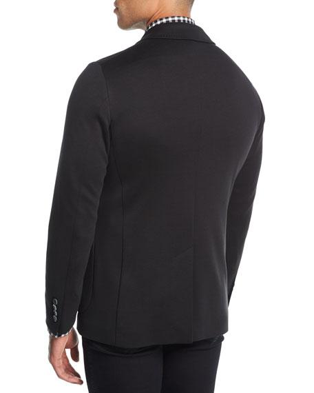 Cotton-Silk Knit Blazer