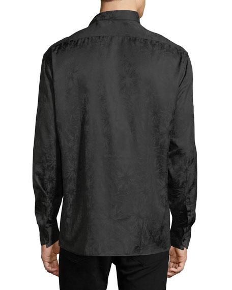 Long-Sleeve Tonal Firework-Print Shirt