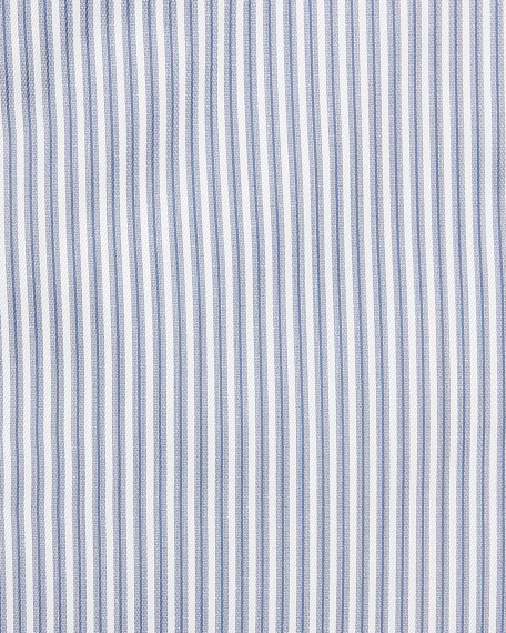 Striped Barrel-Cuff Dress Shirt