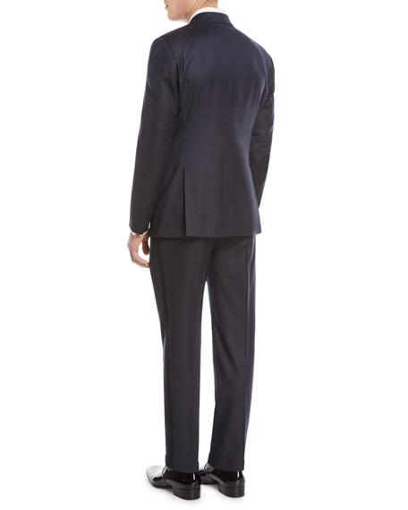 Micro-Diamond Pattern Wool-Blend Tuxedo