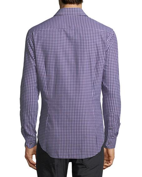 Variegated Gingham Dress Shirt