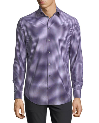 Variegated Gingham Dress Shirt