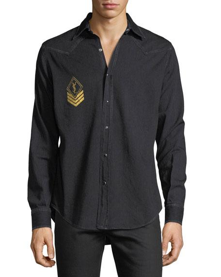 Milittary Monogram Denim Shirt