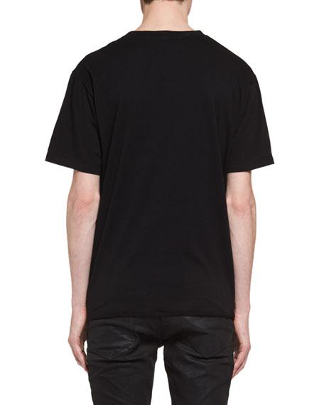 Oversized Bouche Saint Laurent Cotton T-Shirt, Black