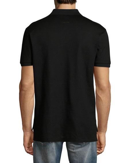 Bucking Bronco Cotton Pique Polo Shirt, Black