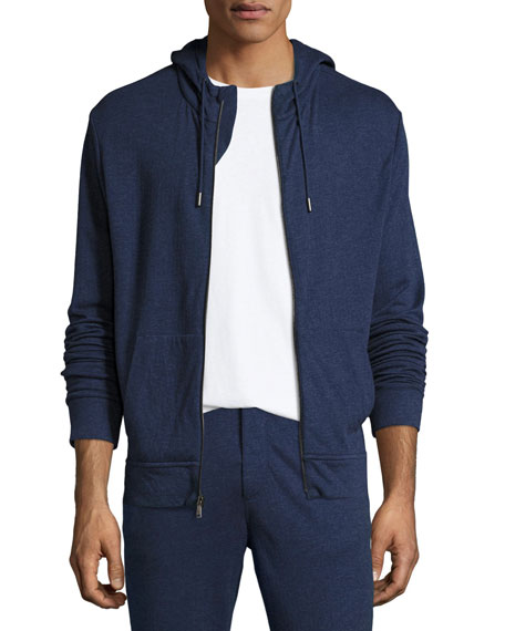 Ralph Lauren Duofold Zip-Front Hoodie, French Blue