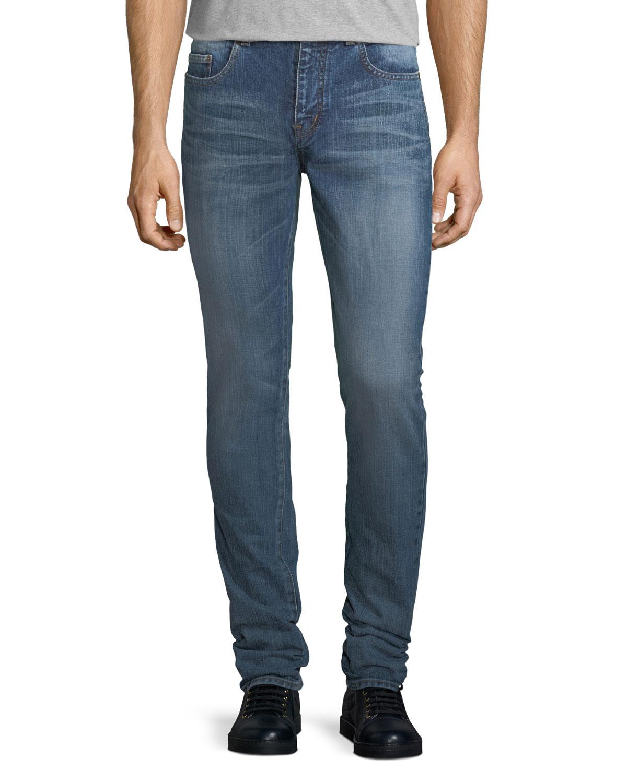 b49a6e5e02c Saint Laurent Skinny Jeans w  SL University Patch