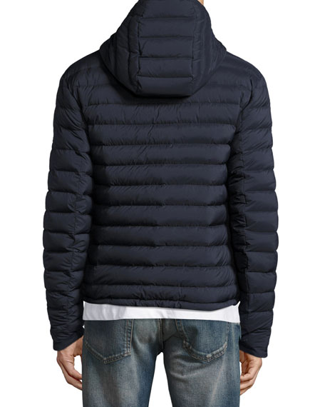 Barton Hooded Down Jacket, Navy Blue