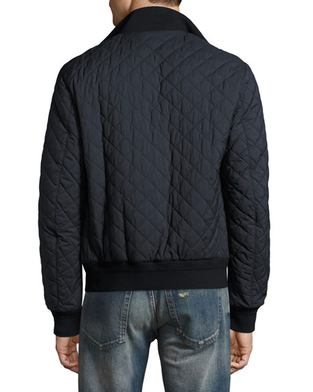 Alverstone Quilted Bomber Jacket, Navy
