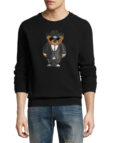 Cowboy Bear Jersey Sweatshirt, Black