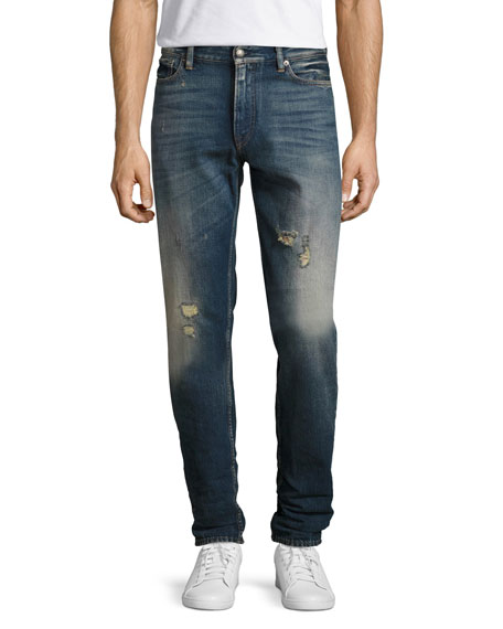 Ralph Lauren Slim Tapered Denim Jeans, Washed Blue