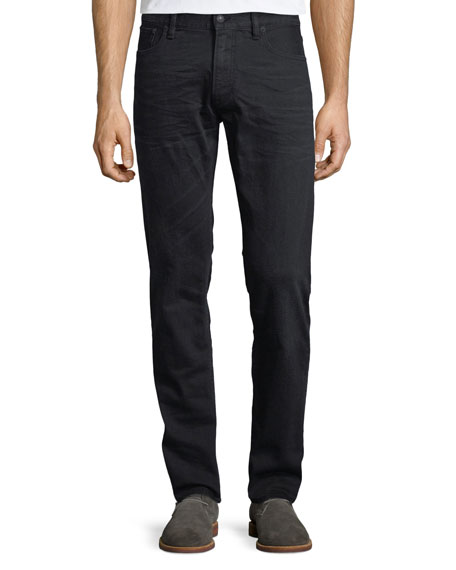 5-Pocket Slim-Leg Washed-Denim Jeans