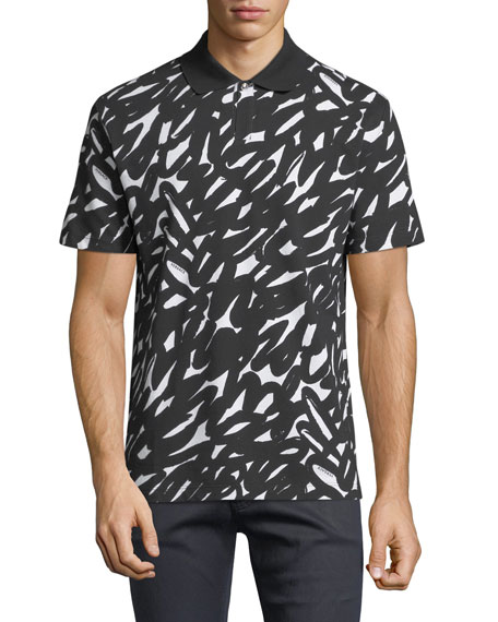 Versace Graffiti-Print Polo Shirt