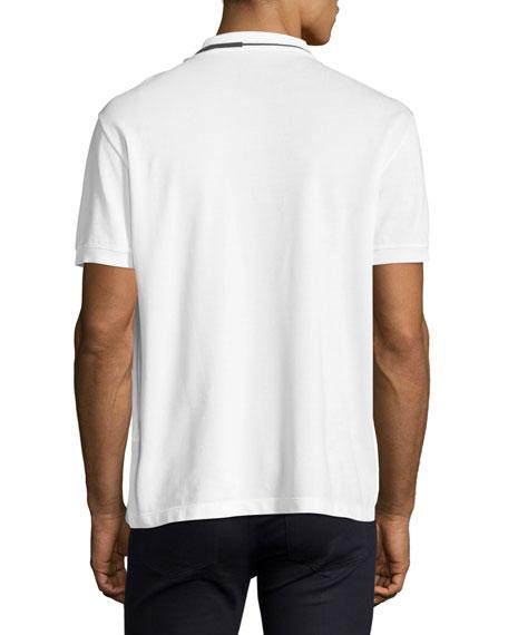 Contrast-Trim Polo Shirt