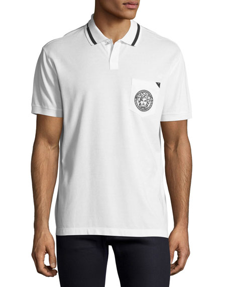 Versace Contrast-Trim Polo Shirt