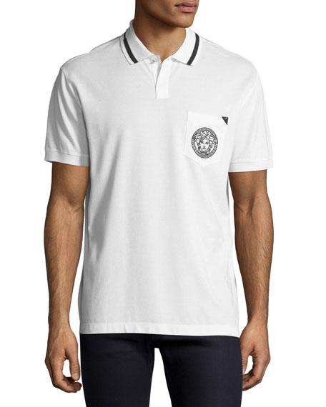 Versace Contrast-Trim Polo Shirt
