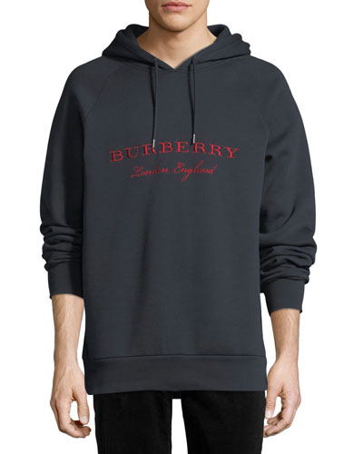 Krayford Logo-Embroidered Hooded Sweatshirt, Navy