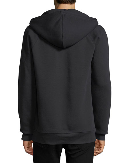 Krayford Logo-Embroidered Hooded Sweatshirt, Black