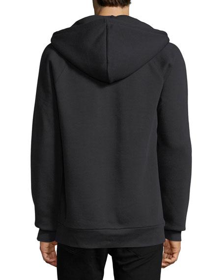 Krayford Logo-Embroidered Hooded Sweatshirt, Black