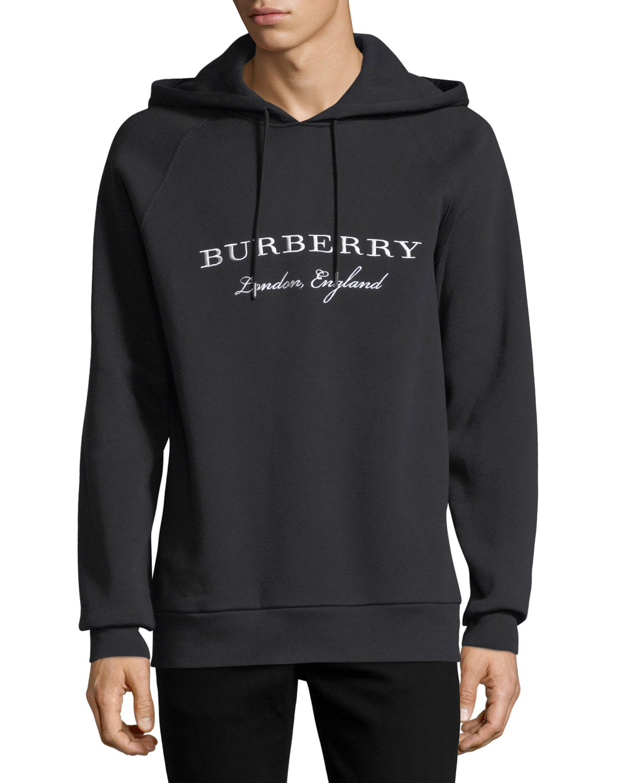 8ba1063dab1b Burberry Krayford Logo-Embroidered Hooded Sweatshirt