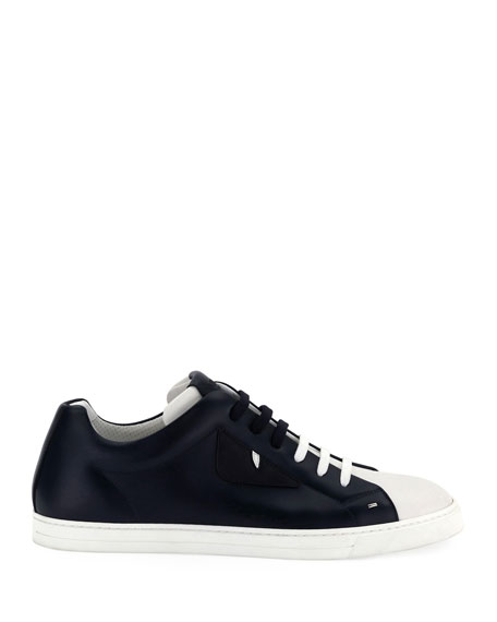 Men's Monster Leather Low-Top Sneakers