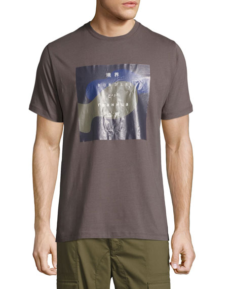 Public School Solomon International Border Cotton T-Shirt
