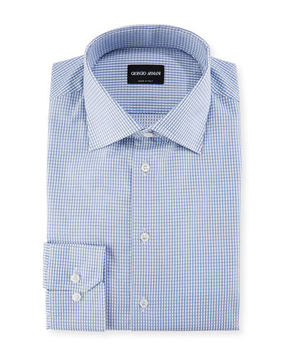 Micro-Graph Cotton Dress Shirt