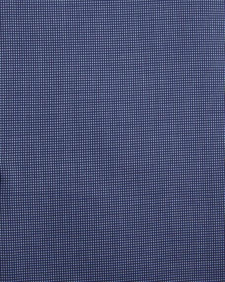 Textured Solid Slim-Fit Travel Dress Shirt, Navy