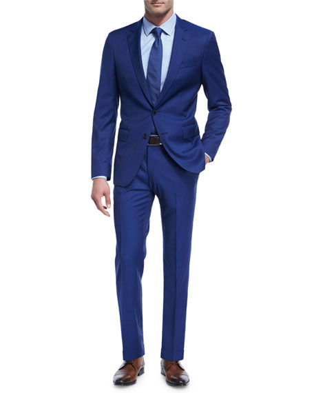 BOSS Twill Natural Stretch Wool Two-Piece Suit