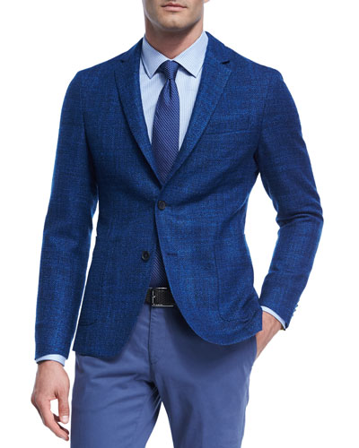 Virgin Wool-Silk Soft Blazer