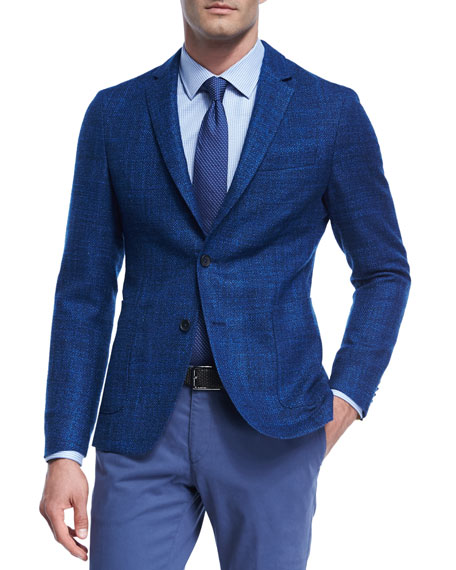 BOSS Virgin Wool-Silk Soft Blazer
